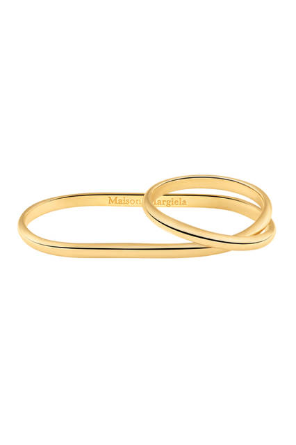 Two-Finger Twisted Yellow Gold Ring