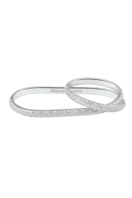 Two-Finger Twisted  Diamond Ring