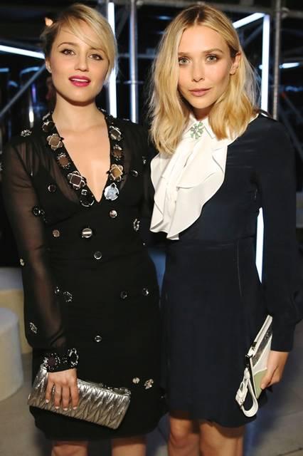 (左より)Dianna Agron & Elizabeth Olsen|ディアナ・アグロン&】エリザベス・オルセン