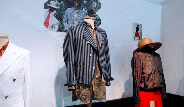 「HAVERSACK(ハバーサック)」もまた、ピッティの常連のジャパニーズブランド。「コロニアル」をテーマに、力強いクリエイションを披露した