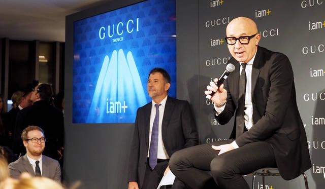 グッチ プレジデント &  CEOマルコ・ビッザーリ氏(写真右)