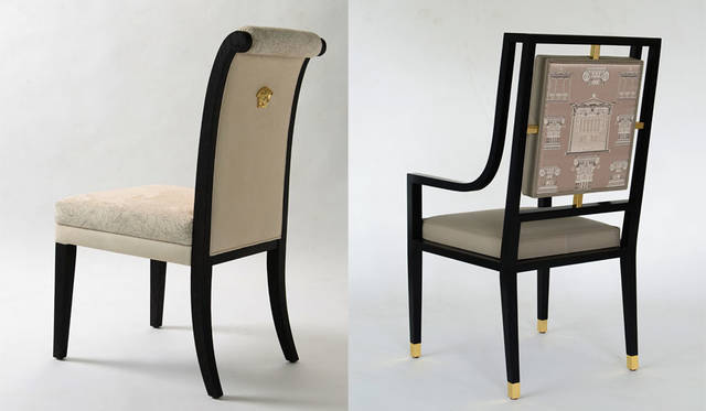 <strong>VERSACE ヴェルサーチ</strong><br />「VERSACE HOME 銀座店」 家具コレクション「Via Ges&#249; Chair」