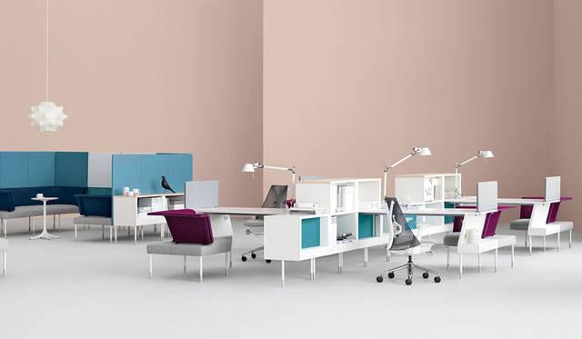 <strong>Herman Miller|ハーマンミラー</strong><br />デザイナー:イヴ・ベアール「Public Office Landscape(パブリックオフィスランドスケープ)」