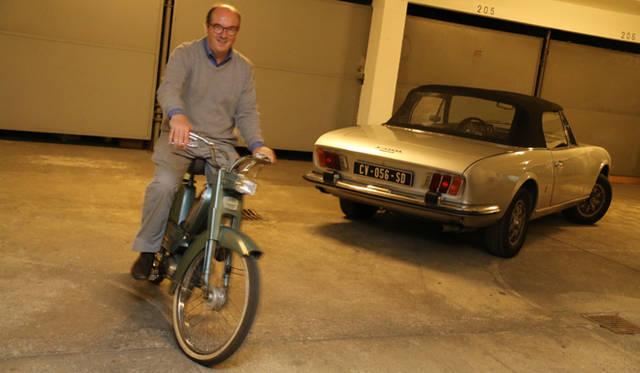 プジョー製原付2輪「BB」の始動成功。地下駐車場内を走り回る。