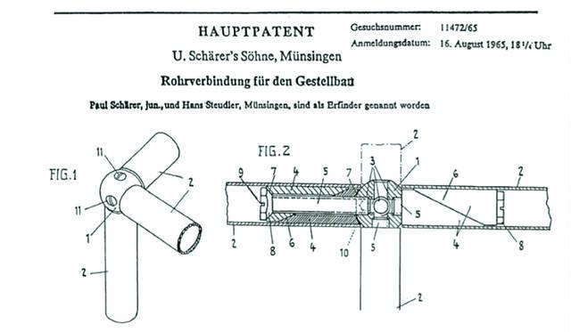 1967年に描かれたUSMハラーに使われるボールコネクターの製造図面。さまざまな用途・サイズ・形状に合わせて、多様なファニチャーへ姿を変える、システムファニチャーの要といえる
