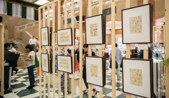 <strong>MITSUKOSHI|日本橋三越本店</strong><br />三越アート&クリエーション「北斎漫画の世界へようこそ」 「北斎漫画」の作品(江戸摺稀少本)が80点あまり展示・販売