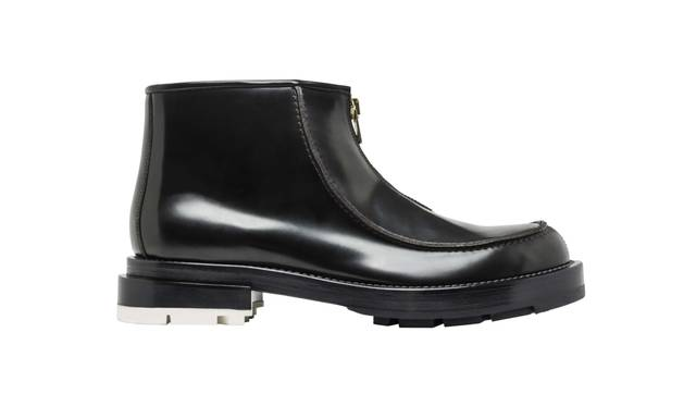 FRONT ZIP LEATHER BOOTS 9万3960円