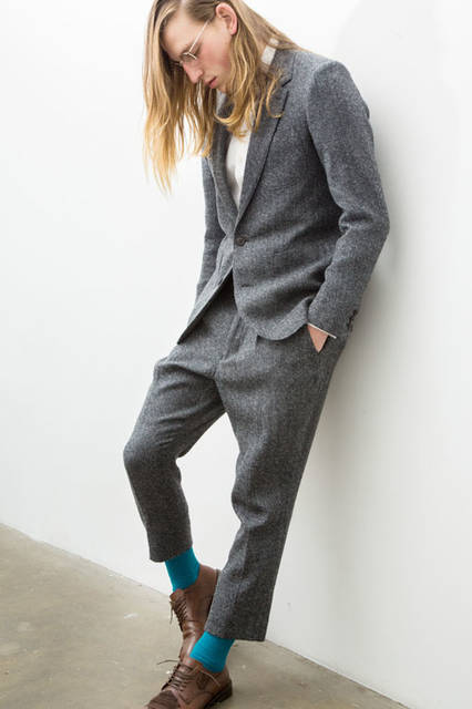 <strong>doublet|ダブレット</strong><br /><strong>2015-16年 秋冬コレクション</strong> W/C JACQUARD JACKET 9万3960円、W/C JACQUARD PANT 4万6440円