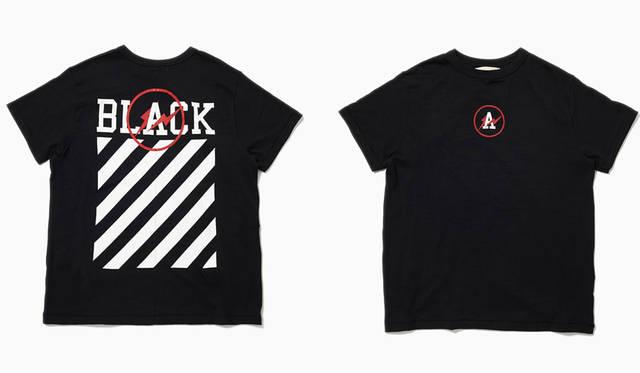 <strong>the POOL aoyama|ザ・プール青山</strong><br />「OFF-BLACK &#8453; VIRGIL ABLOH(オフ-ブラック &#8453; ヴァージル アブロー)」 STRIPE LOGO TEE(BLACK)3万3480円