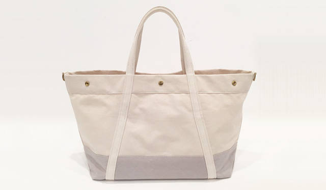 <strong>edit & co.|エディット アンド コー</strong><br />トートバッグ「CANVAS」ラージサイズ(Natural × Grey)