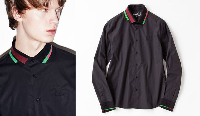 <strong>Fred Perry|フレッドペリー</strong><br />「Raf Simons×Fred Perry」Autumn&Winter 2015 シャツ2万8080円
