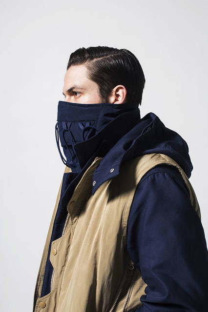 <strong>meanswhile|ミーンズワイル</strong><br /><strong>2015-16年 秋冬コレクション</strong> ヘッドギア1万4904円