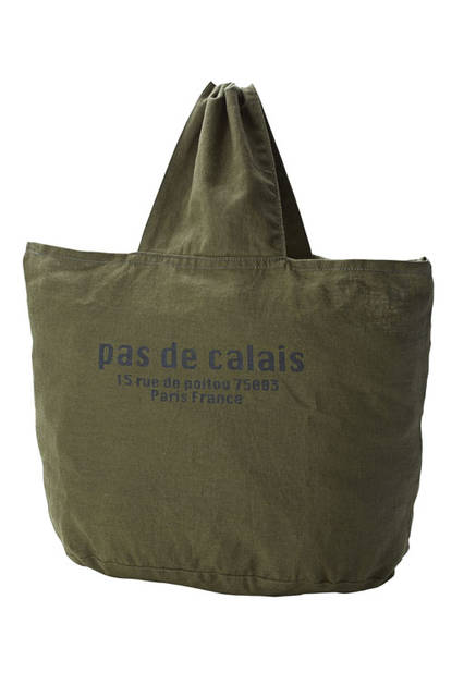 <strong>pas de calais パドカレ</strong><br />2015-16年秋冬コレクション「パリ エディション コレクション」Paris storeアドレス2Way Bag(カーキ)