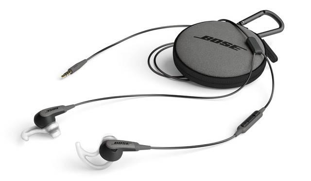 <strong>BOSE ボーズ</strong><br />「Bose&reg; SoundSport in-ear headphones」オーディオ専用モデル1万2420円、スマートフォン対応モデル / Apple製品対応モデル ともに1万6200円