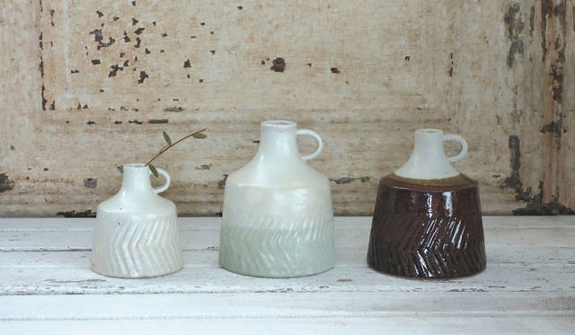 <strong>MISHIM POTTERY CREATION|ミシン ポタリー クリエーション</strong><br />flower vase 2900円(税抜)