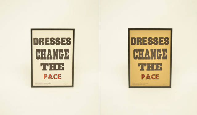 <strong>journal standard Furniture|ジャーナル スタンダード ファニチャー</strong><br />A TWO PIPE PROBLEM LETTERPRESS×journal standard Furniture 「DRESSES CHANGE THE PACE」各1万8360円