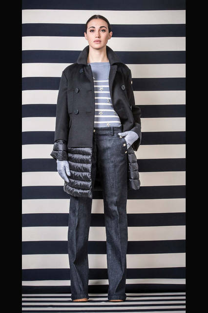 <strong>MARINA YACHTING|マリーナ ヨッティング</strong><br />2015-16年秋冬コレクション アウターウェア10万5840円、セーター3万5640円