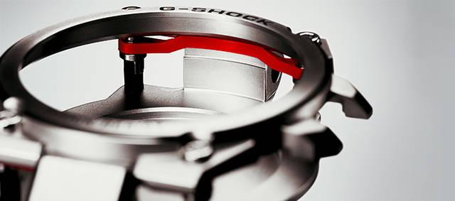 耐衝撃構造も進化。「ファインレジン」を緩衝材として新採用している