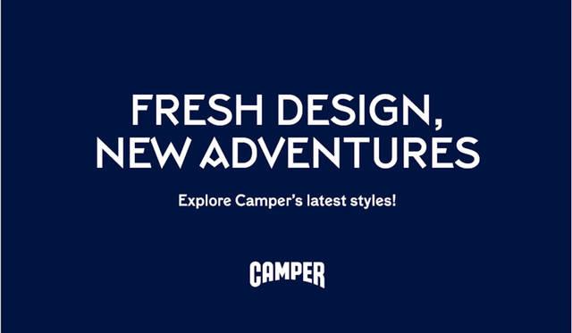 <strong>CAMPER カンペール</strong><br />「フレッシュデザイン、ニューアドベンチャー」フェア開催