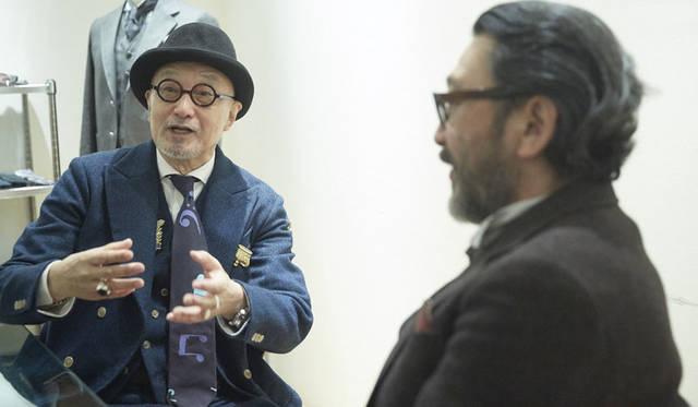 <strong>TAKEO KIKUCHI|タケオキクチ</strong><br />対談は大久保篤志氏のオフィスでおこなわれた