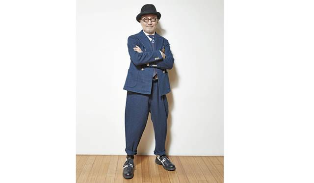 菊池武夫氏は今春おこなわれたショーピースを着用