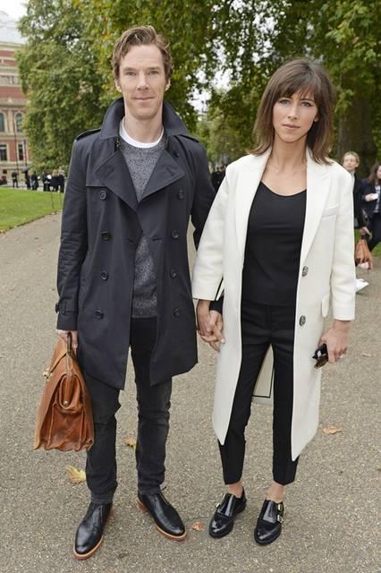 <strong>Benedict Cumberbatch & Sophie Hunter|ベネディクト・カンバーバッチ&ソフィー・ハンター</strong><br /><br /> バーバリー プローサムのショー会場・ロンドン