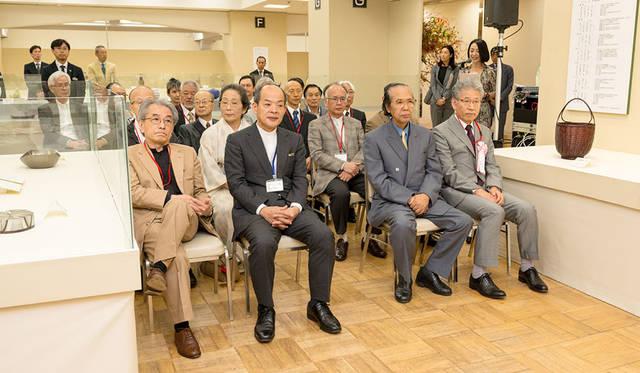 公募展「第62回 日本伝統工芸展」 オープニングセレモニーに参列した重要無形文化財保持者(人間国宝)および受賞者