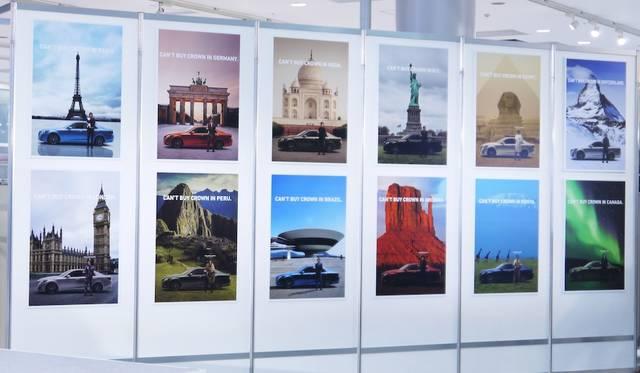 12色を12色の都市であらわしたポスター。すべてに「CAN'T BUY CROWN IN (都市名)」と書かれている