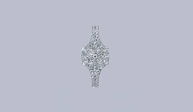 <strong>ランデヴー・アイビー・シークレット</strong><br /> ケース 18Kホワイトゴールド(304個、計11.9カラットのダイヤモンドをセッティング)<br /> 直径 24mm<br /> 厚さ 9.85mm<br /> ムーブメント 手巻き(Cal.846/1)<br /> パワーリザーブ 約38時間<br /> 機能 文字盤が隠せるシークレットウォッチ<br /> 防水 3気圧<br /> 発売時期 未定<br /> 価格 参考商品(日本未入荷)