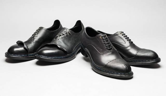 <strong>ISETAN MEN'S|イセタンメンズ</strong><br />伊勢丹新宿店メンズ館地下1階=紳士靴売場「JAPAN靴博2015」 左/「Nao Yokoo Arts & Artisan」モデル「NY-BR3」(サイズ26cm)、右/「Le Parrain」モデル「LP-BR1」(サイズ25.5cm)(価格はともに未定)