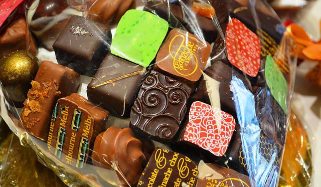 おみやげにしたいチョコレート。メルボルンを象徴するトラムを描いたものは人気