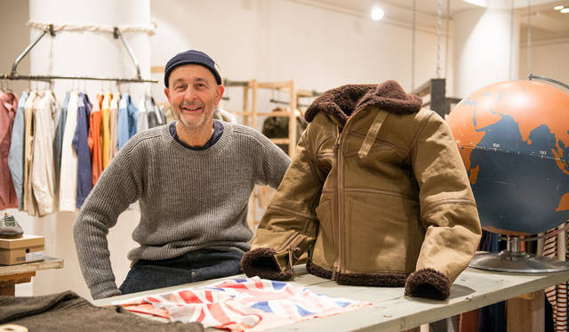 <strong>Nigel Cabourn ナイジェル・ケーボン</strong><br />2015-16年秋冬コレクション展示会場にて