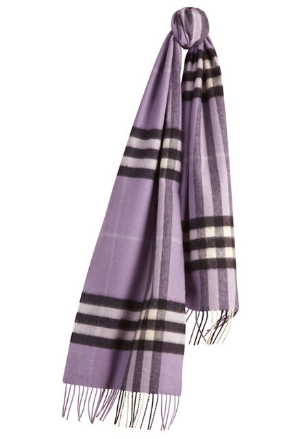 Check Cashmere Scarf - Lilac
