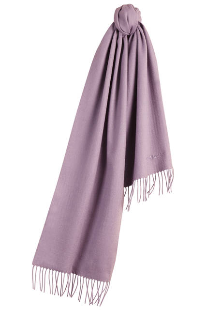 Embroidered Cashmere Scarf - Lilac