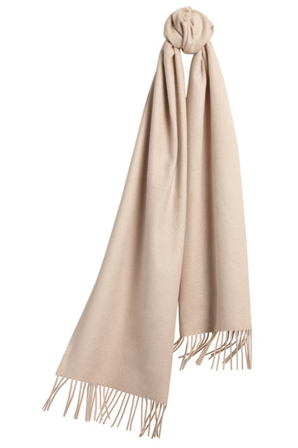 Embroidered Cashmere Scarf - Stone