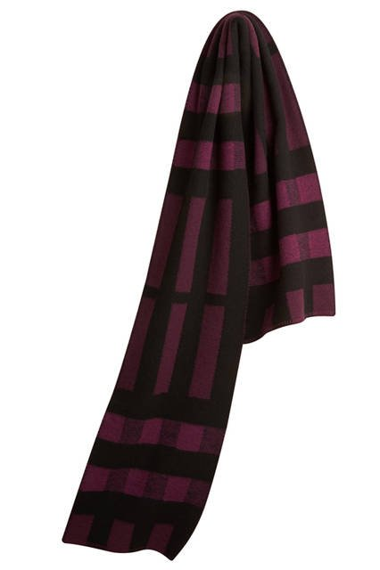 Check-Wool-Cashmere-Scarf-Dark-Plum