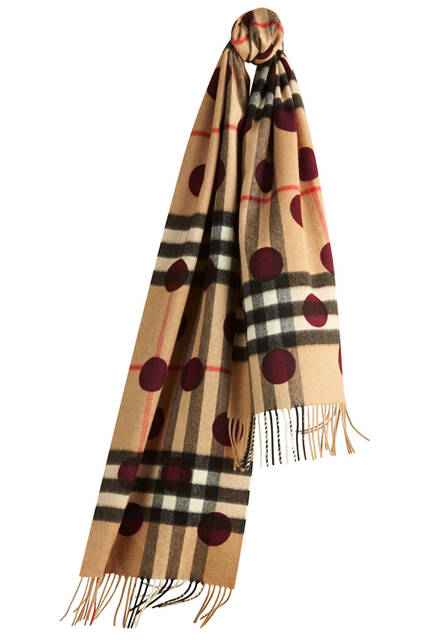 The-Classic-Cashmere-Scarf-in-Check-and-Dots-Plum