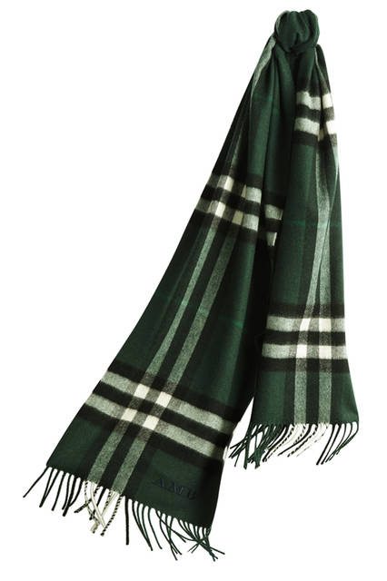 The-Classic-Cashmere-Scarf-in-Check-Dark-Forest-Green-Monogrammed