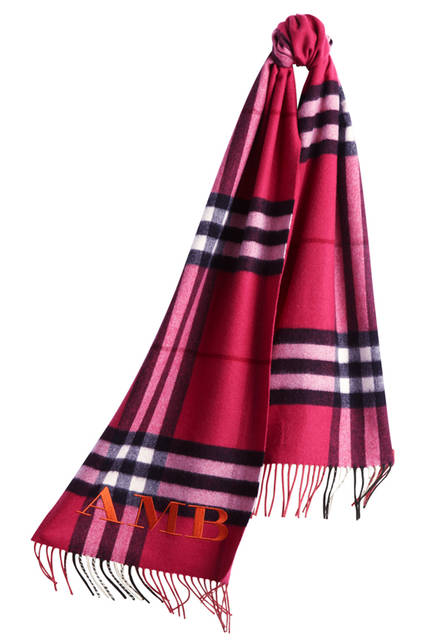 The-Classic-Cashmere-Scarf-in-Check-Fuchsia-Pink-Monogrammed