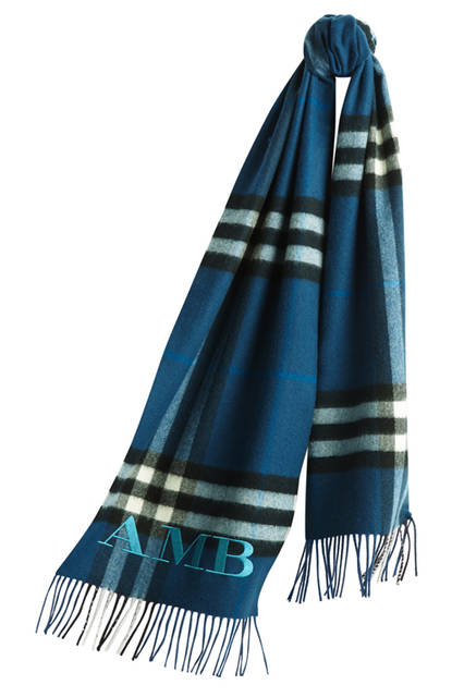 The-Classic-Cashmere-Scarf-in-Check-Marine-Blue-Monogrammed