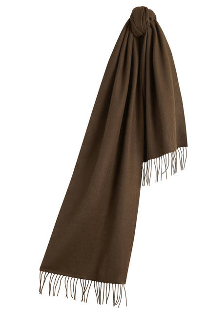The-Classic-Cashmere-Scarf---Olive-Brown