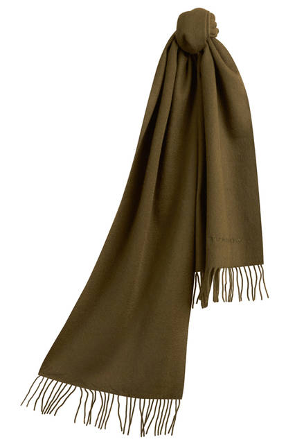 The-Classic-Cashmere-Scarf---Olive-Green