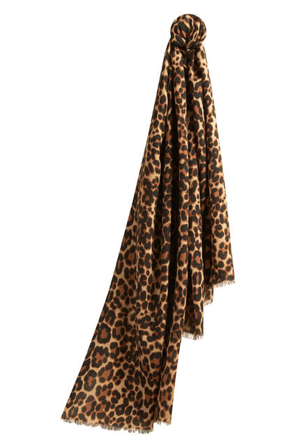The-Lightweight-Cashmere-Scarf-in-Animal-Print---Camel