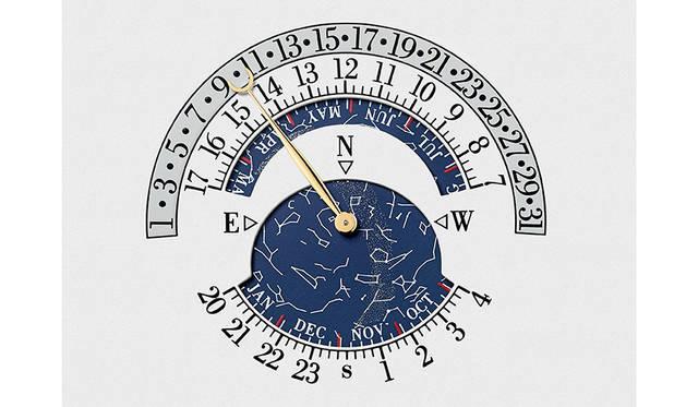 <strong>Reference 57260</strong><br /> ケース|18Kホワイトゴールド<br /> 直径|98mm<br /> 厚さ|50.55mm<br /> ムーブメント|手巻き(Cal.3750)<br /> 振動数|1万8000振動/時<br /> パワーリザーブ|約60時間<br /> 機能|レギュレータータイプの時・分・秒表示。球体ヒゲゼンマイを備えたアーミラリ天球儀トゥールビヨン・レギュレーター。3軸トゥールビヨン。12時間式の第2時間帯表示(時・分)。世界24都市のワールドタイム表示。12時間式ワールドタイムの昼夜表示。グレゴリオ暦永久カレンダー。グレゴリオ暦曜日表示。グレゴリオ暦月表示。グレゴリオ暦レトログラード日付表示。閏年表示。曜日番号の表示(ISO8601カレンダー)。その年における週番号表示(ISO8601カレンダー)。19年周期のユダヤ暦カレンダー。ヘブライ語曜日名。ヘブライ語月名。ヘブライ語日付表示。ヘブライ語セキュラーカレンダー。ヘブライ語世紀、10年、年表示。ユダヤ暦年の月数表示(12カ月または13カ月)。19年周期のゴールデンナンバー表示。太陽針による季節、春分・秋分、夏至・冬至、12星座表示。天文表示(オーナーの居住地で調整)。恒星時。恒星分。日出時刻表示(オーナーの居住地で調整)。日入時刻表示(オーナーの居住地で調整)。均時差。昼の長さ(オーナーの居住地で調整)。夜の長さ(オーナーの居住地で調整)。月相・月齢表示(1027年調整不要)。ヨム・キプール(ユダヤ教の贖罪の日)日付表示。レトログラード1/5秒クロノグラフ(コラムホイール1個)。レトログラード1/5秒スプリットセコンド・クロノグラフ(コラムホイール1個)。12時間積算計(コラムホイール1個)。60分積算計。シングルゴング&ハンマーストライキング・アラーム。アラーム・ストライキング/サイレンス切り替え表示。ノーマルアラーム/カリヨン・ストライキング・アラーム選択表示。カリヨン・ストライキング機能と連結したアラーム機能。グラン・ソヌリ/プチ・ソヌリの選択が可能なアラームストライキング機能。アラーム・パワーリザーブ表示。5個のチャイムと5個のハンマーによるカリヨン・ウエストミンスターチャイム。グラン・ソヌリ・パッシングストライク。プチ・ソヌリ・パッシングストライク。ミニット・リピーター。ナイトサイレンス機能。完全に巻き上げられた状態で香箱を外すシステム。グラン・ソヌリ/プチ・ソヌリ・モード表示。サイレント/ストライキング/ナイト・モード表示。時間輪列用パワーリザーブ表示。ストライキング輪列用パワーリザーブ表示。巻き上げリューズポジション表示。ストライキングロック表示。二重香箱用巻き上げシステム。2位置・2方向の針合わせシステム。アラーム機能用埋め込み式巻き上げリューズ<br /> 限定数|1本(アトリエ・キャビノティエによるオーダーメイド)<br /> 価格|非公開<br />