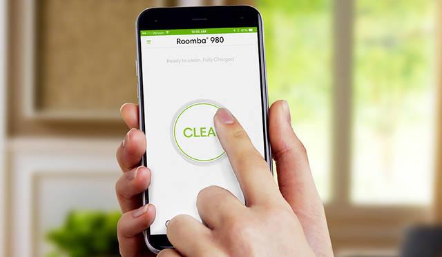 ルンバ980に対応するスマートフォンアプリ 「iRobot HOME」