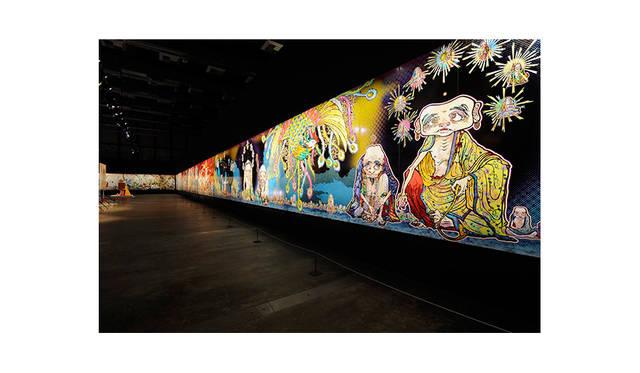 村上 隆 「五百羅漢図」(部分) 2012 年 個人蔵<br>展示風景:「Murakami - Ego」アル・リワーク展示ホール、ドーハ、2012 年 撮影: GION<br> ©2012 Takashi Murakami/Kaikai Kiki Co., Ltd. All Rights Reserved.