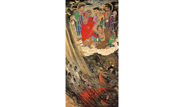 狩野一信 「五百羅漢図」第 22 幅 六道 地獄  江戸時代末期 所蔵:増上寺、東京