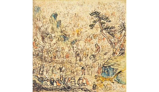長沢芦雪 「方寸五百羅漢図」 1798 年 個人蔵