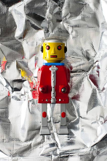 「Christmas 2015Space」 ロボットのオブジェ「Mr Robot」(H20cm)6804円