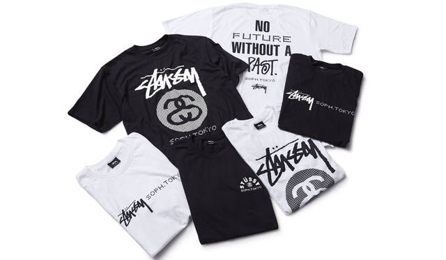 <strong>ESTNATION|エストネーション</strong><br />SOPH. POP-UP STORE at ESTNATION Roppongi Hills 「ST&#220;SSY×SOPHNET. Future Past Tee」(COTTON PLATING STITCH・S~XL)7020円、「ST&#220;SSY× SOPHNET. SOPH.TOKYO Tee」7020円、「STÜSSY×SOPHNET. Stock Link Tee」7020円